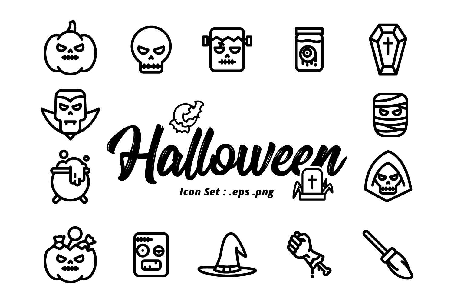 HALLOWEEN ICON SET example image 2