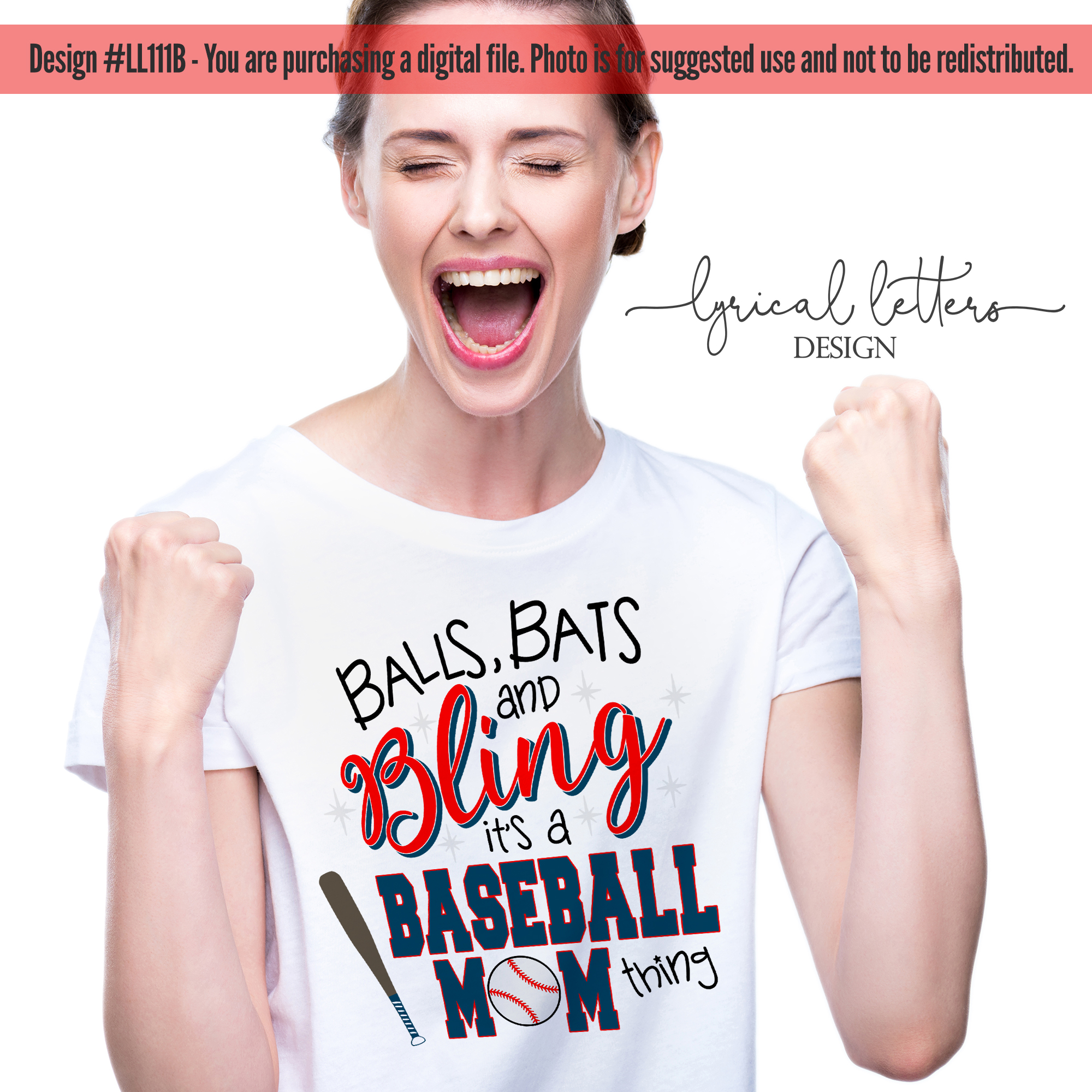 Balls Bats and Bling It's a Baseball Mom Thing SVG LL111B example image 2