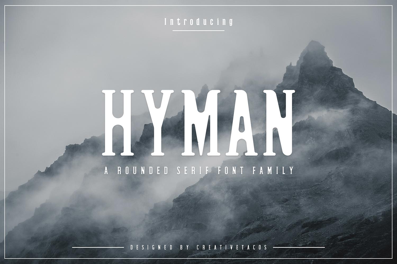 Hyman Rounded Serif Font Family example image 1