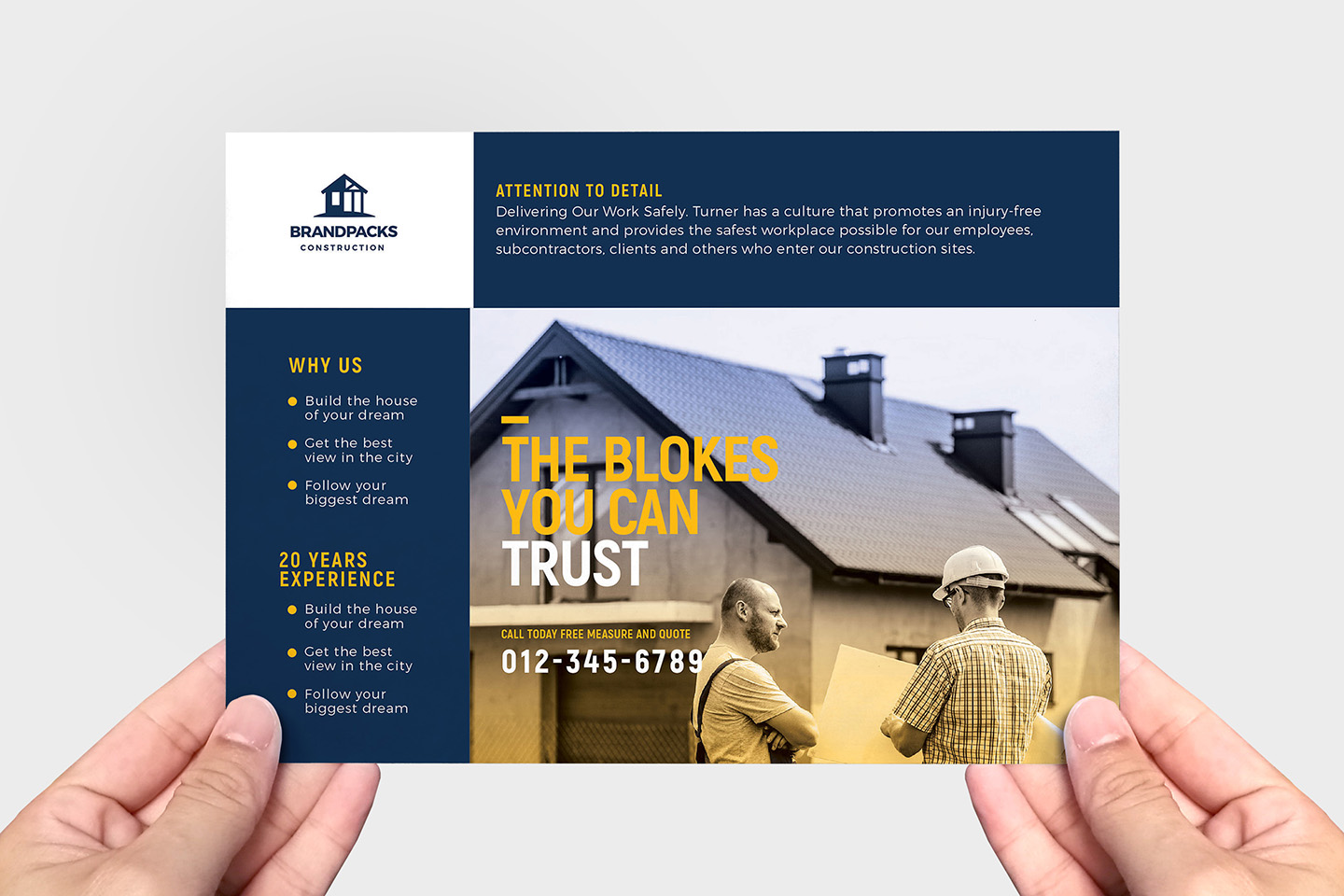 Construction Company Flyer Template example image 3