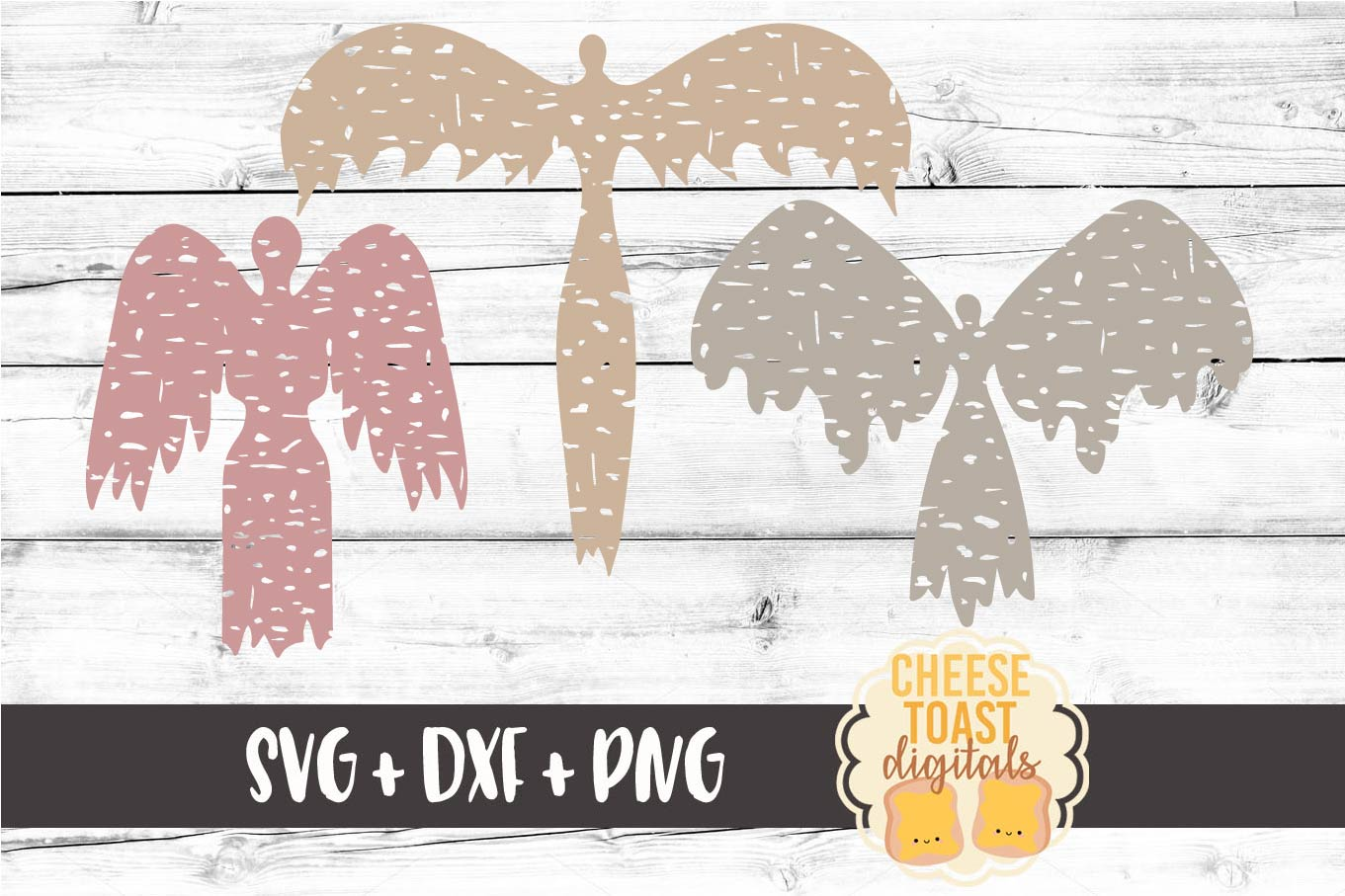 Distressed Angel Bundle - Christmas SVG Files - Remembrance example image 5