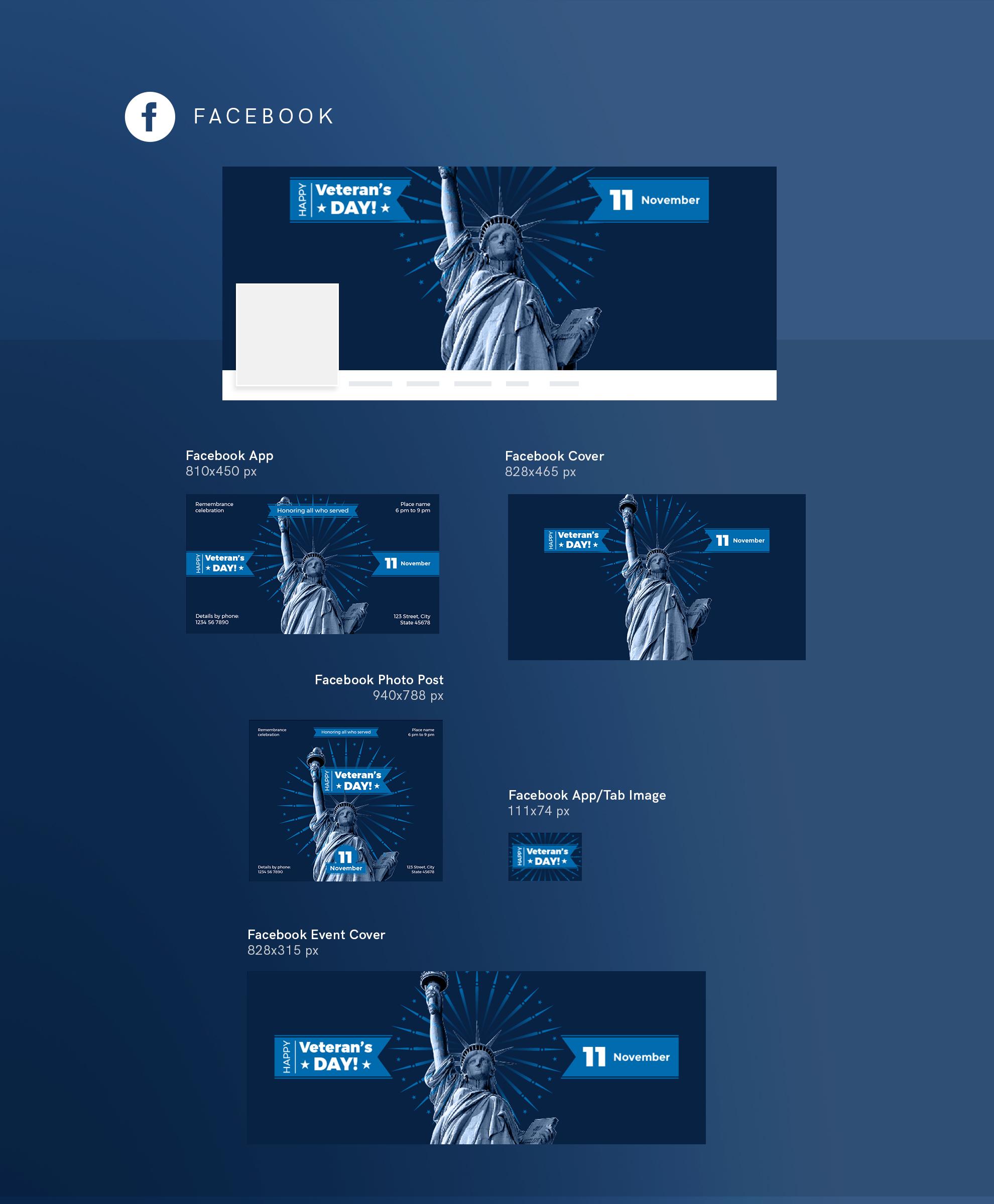 Veteran's Day Celebration Design Templates Bundle example image 9