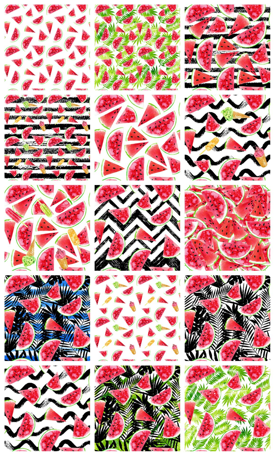 Watercolor Watermelons & Ice-creams example image 8