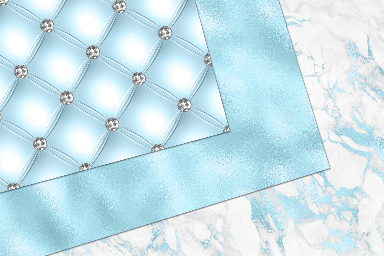 Glitzy Blue Digital Paper example image 2