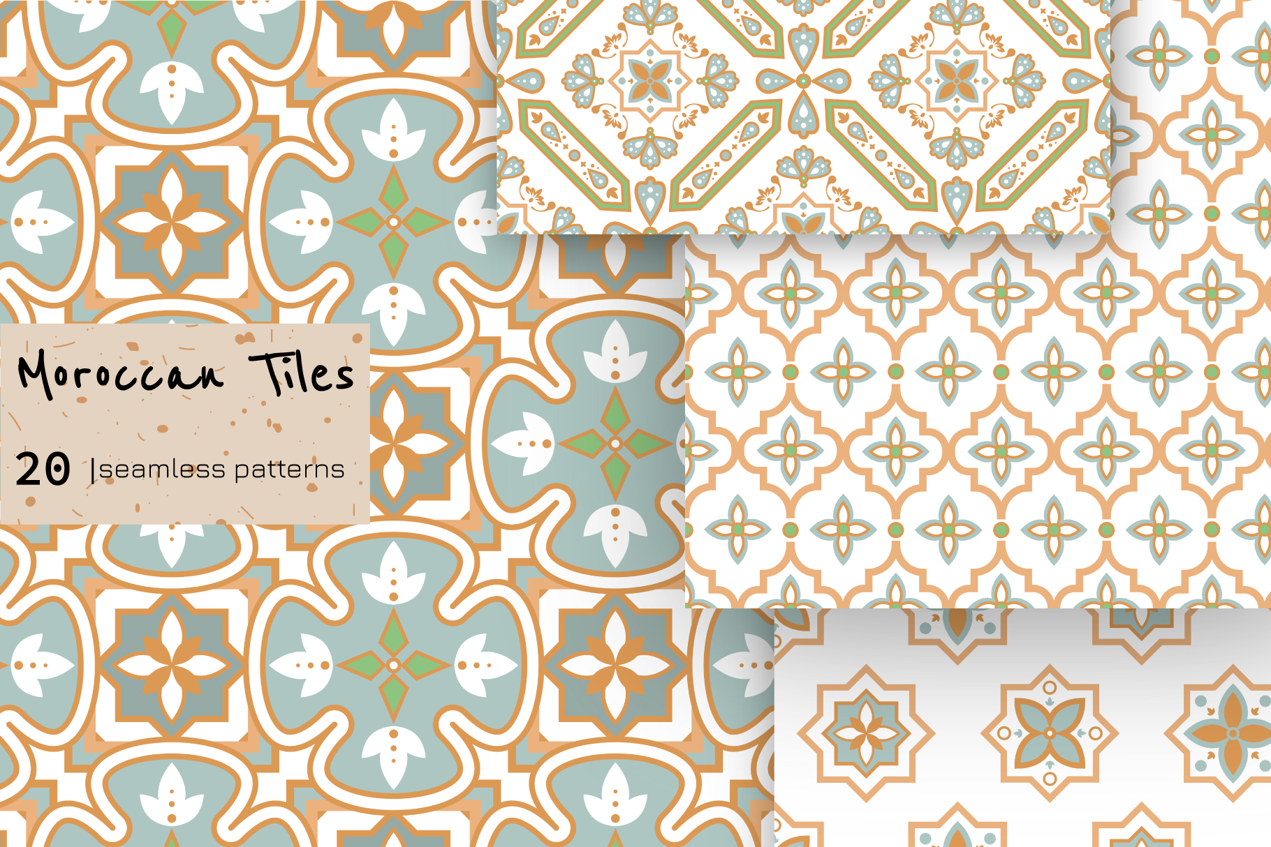 Moroccan Tiles - 20 patterns example image 3