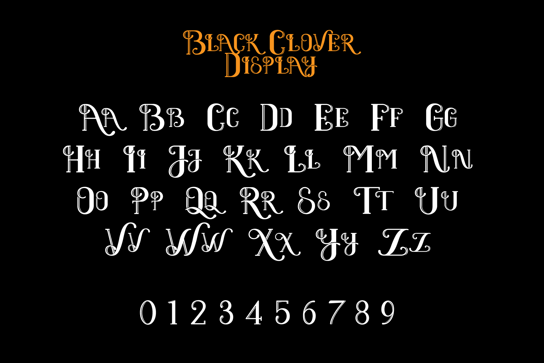 Black Clover | Font Duo example image 5