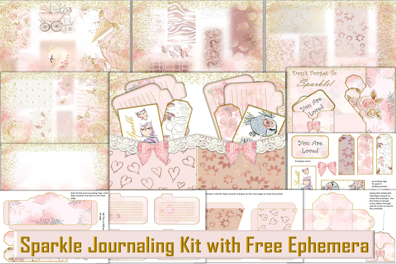 Printable Journal Kit with free Ephemera JPEG PNG PDF example image 1