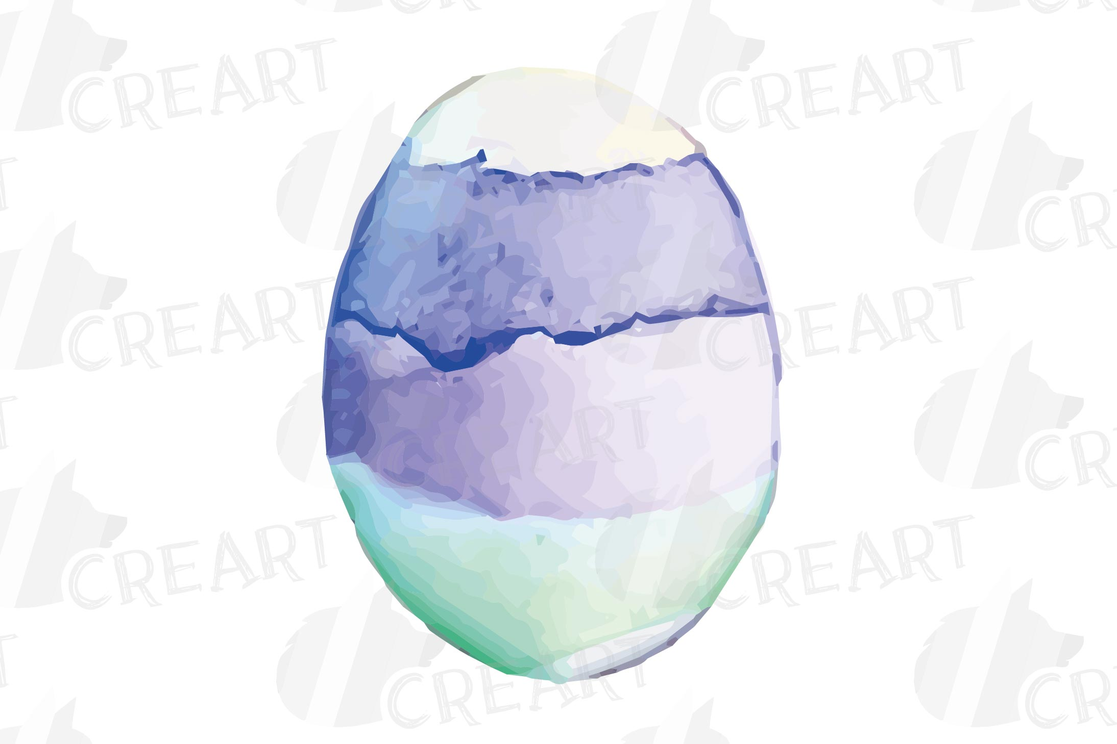 Watercolor Easter eggs colorful clip art pack example image 17
