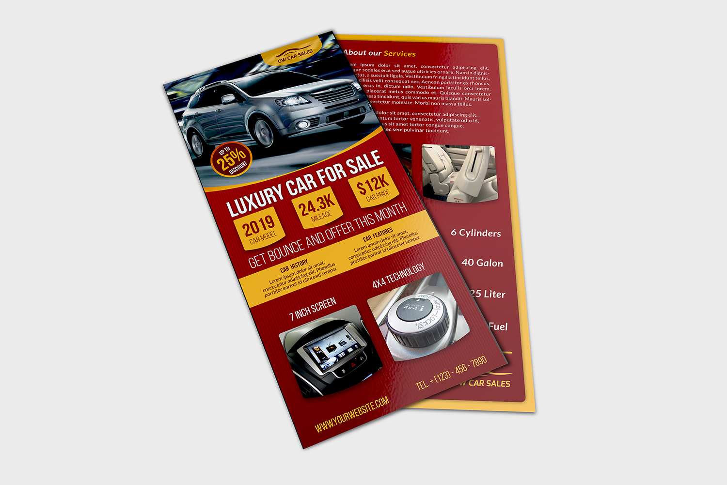 Car for Sale Flyer DL Size Template example image 2