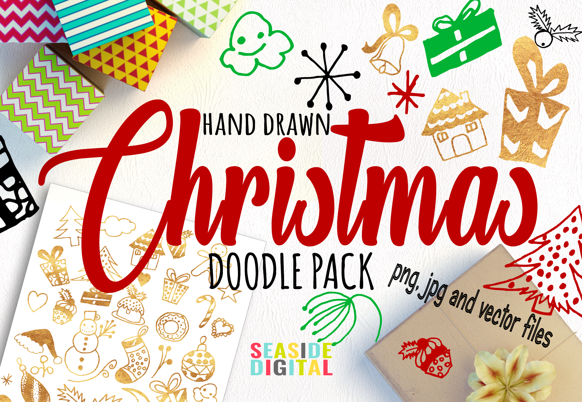 Hand Drawn Christmas Doodles example image 1