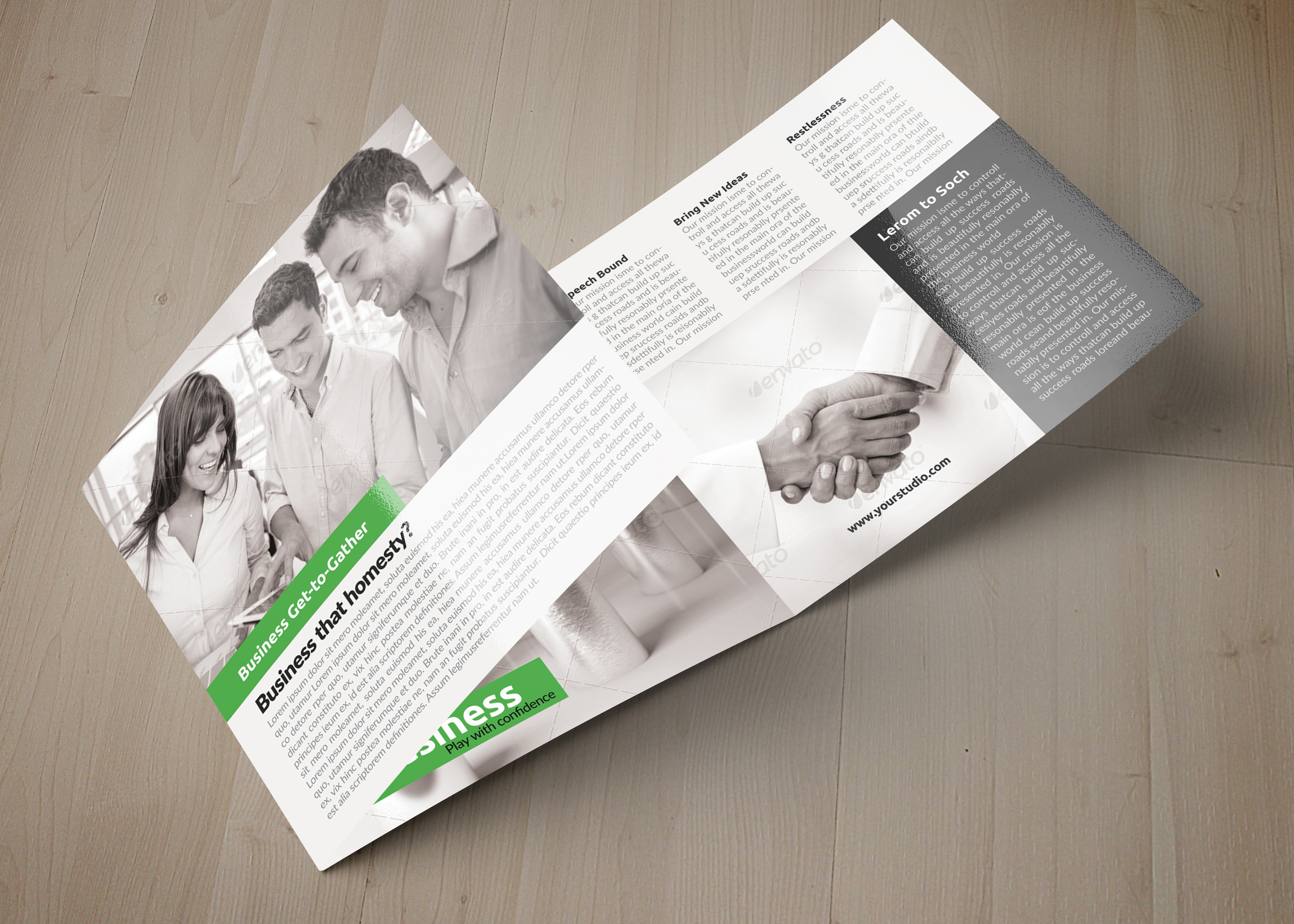 Business Square Trifold Brochure example image 4