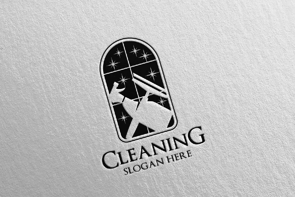 Cleaning Service Vector Logo Design example image 2