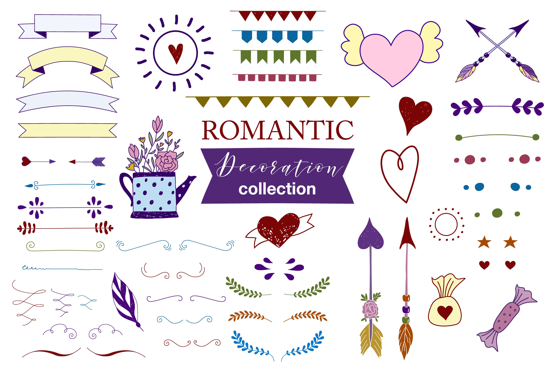 Hand drawn Romantic design kit example image 6