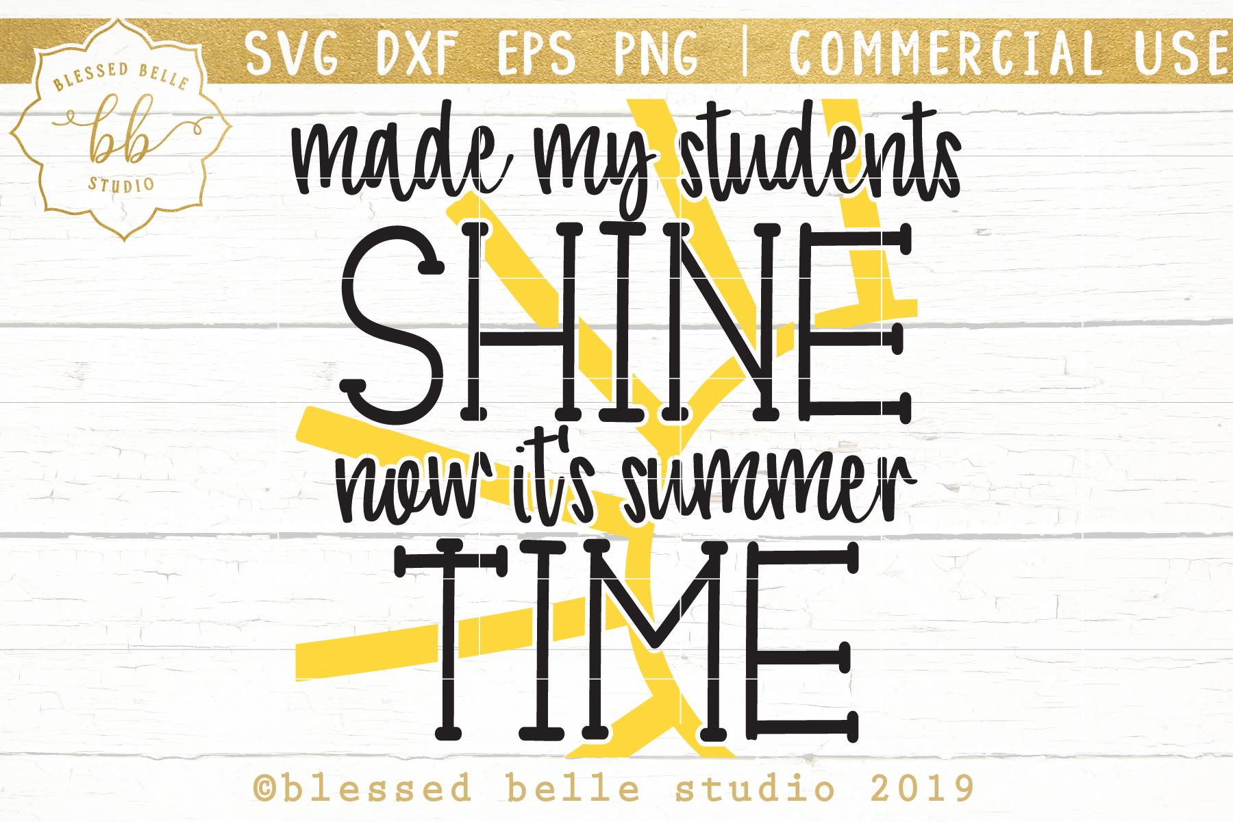 Teacher SVG DXF EPS PNG summertime svg example image 2