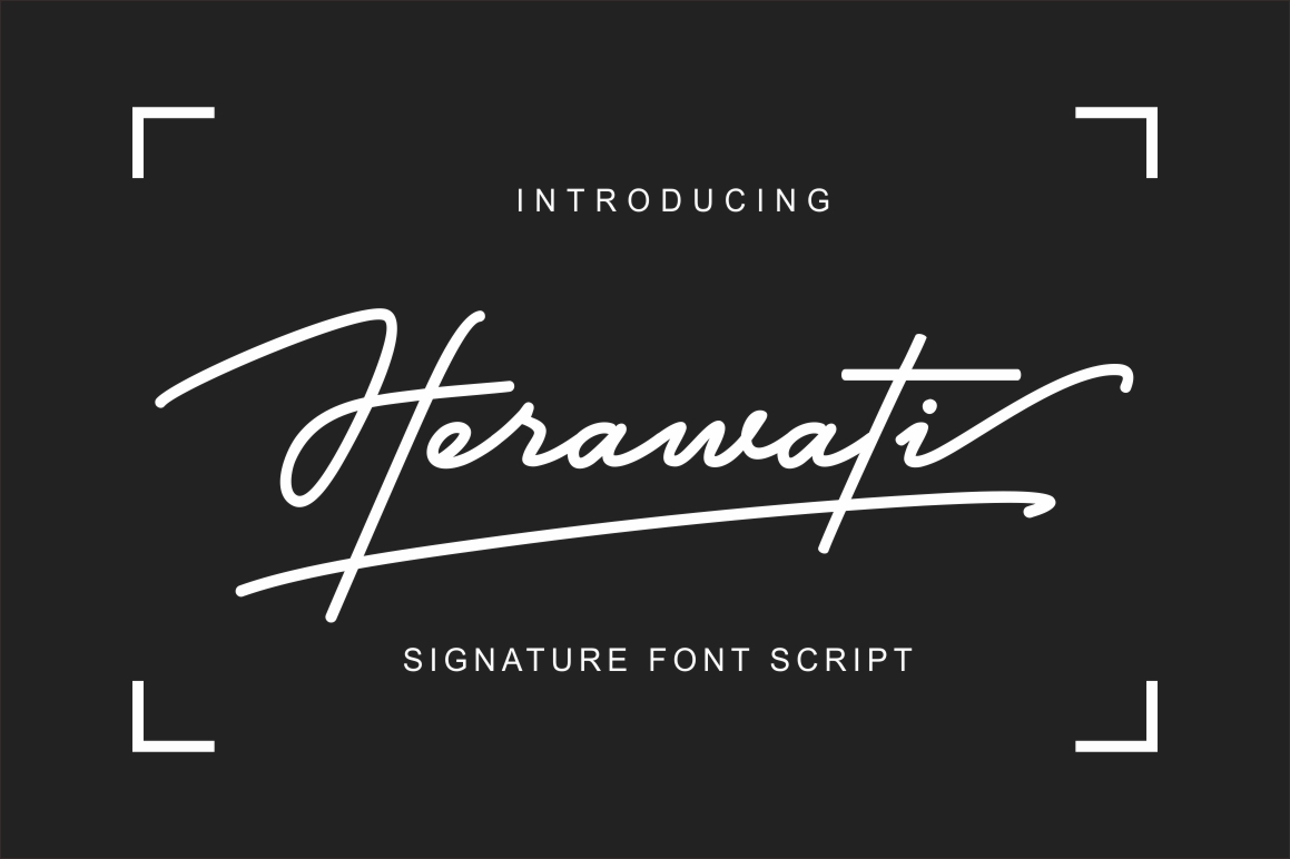 Herawati Signature Font example image 1