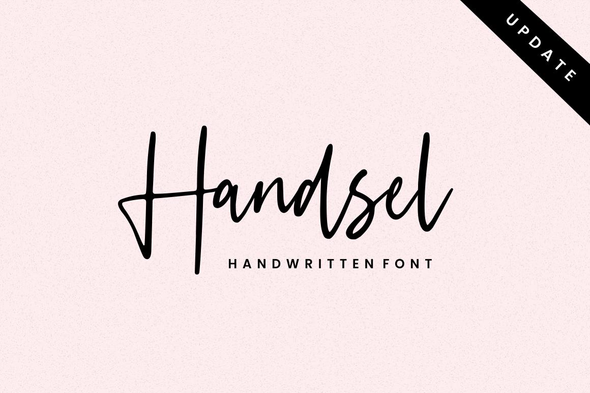 Handsel - Handwritten Font example image 1