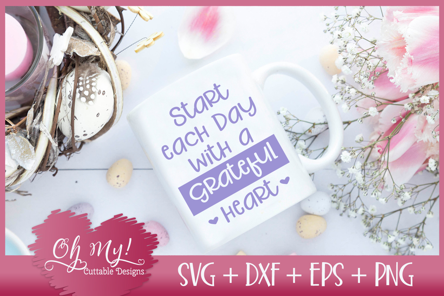 Start Each Day With A Grateful Heart - SVG DXF EPS PNG C example image 2