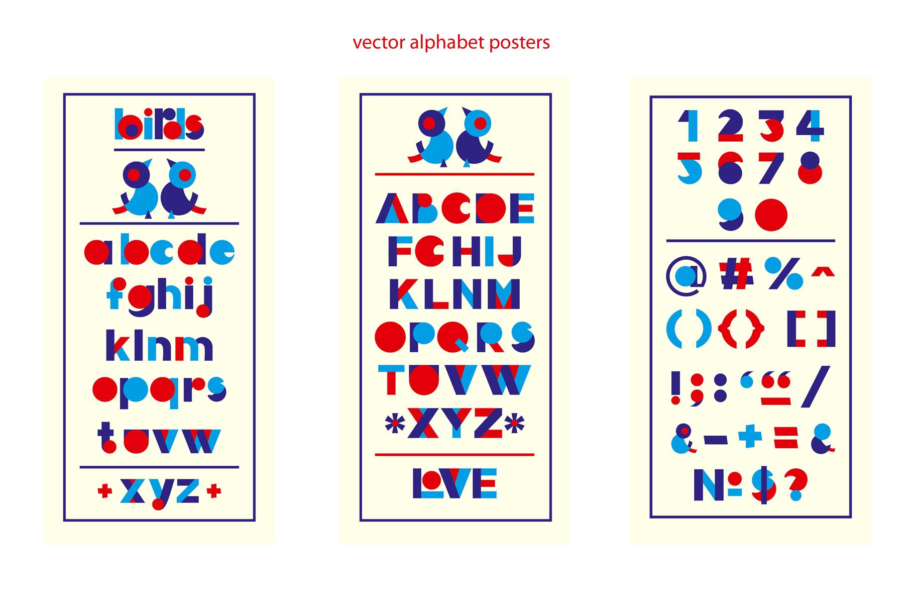 LOVE-BIRDS multicolor font example image 7
