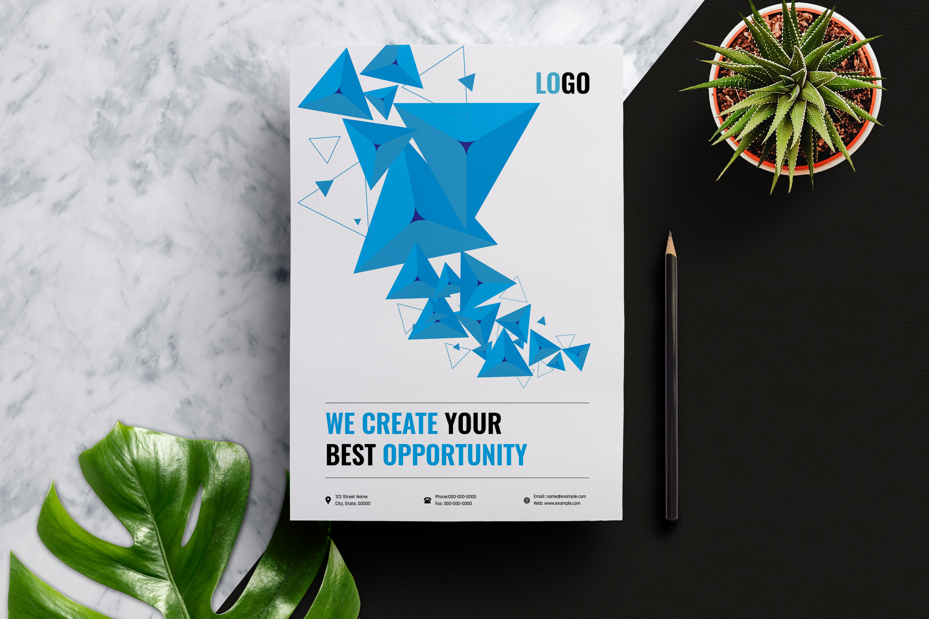 Abstract Business Flyer Template example image 3