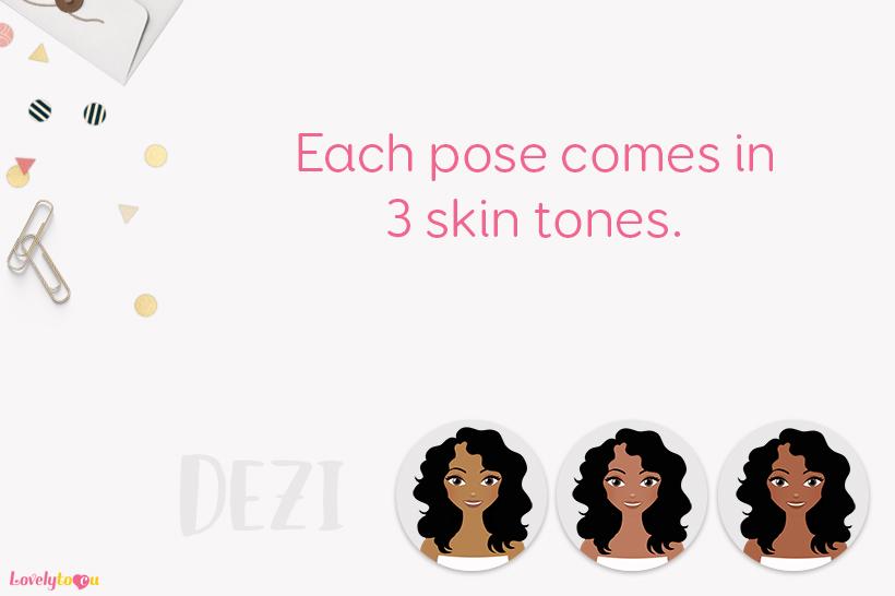 Woman makeup character clip art L100 Dezi example image 2