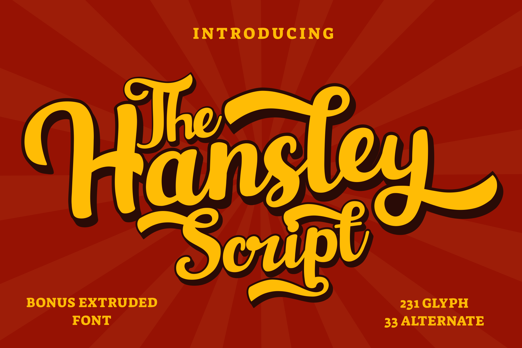 Hansley - Retro Font example image 1