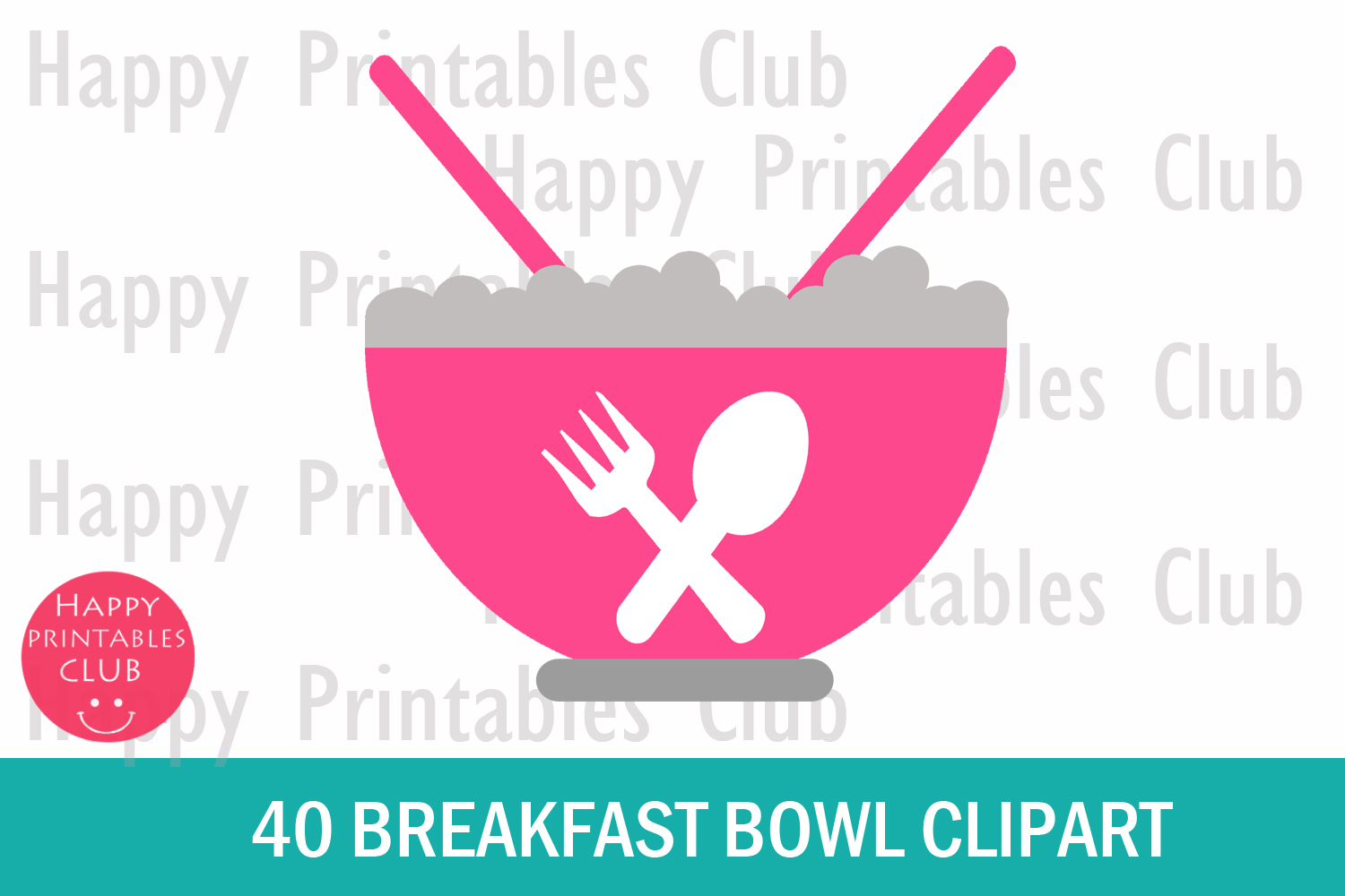 40 Breakfast Bowl Clipart- Cereals Bowl Clipart- Bowl PNG example image 2