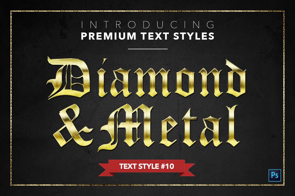 Diamond & Metal #1 - 15 Text Styles example image 11