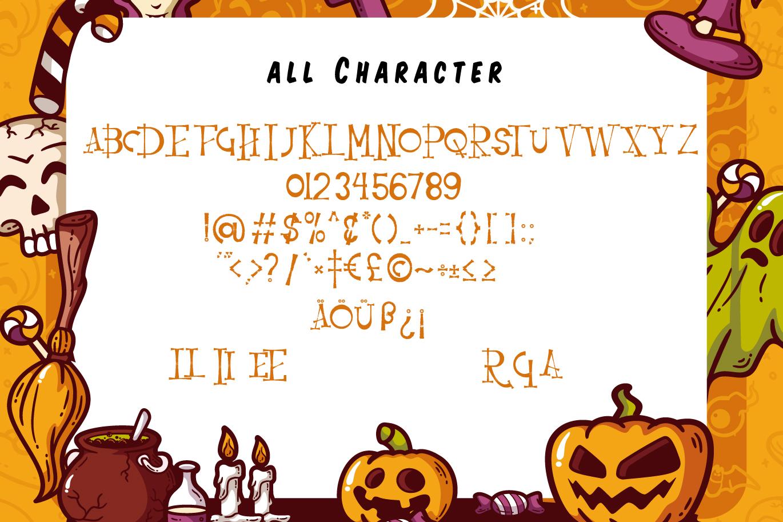 Resquro Halloween | Decorative Font example image 6