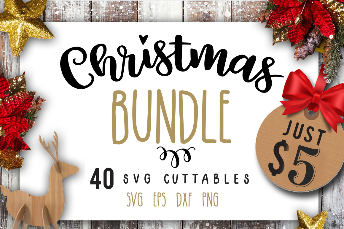 Christmas Bundle SVG bundle 40 designs Winter SVG example image 1
