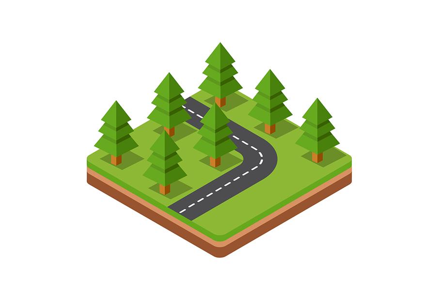 Isometric trees example image 1