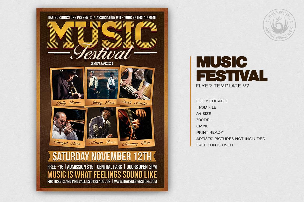 Music Festival Flyer Template V7 example image 2