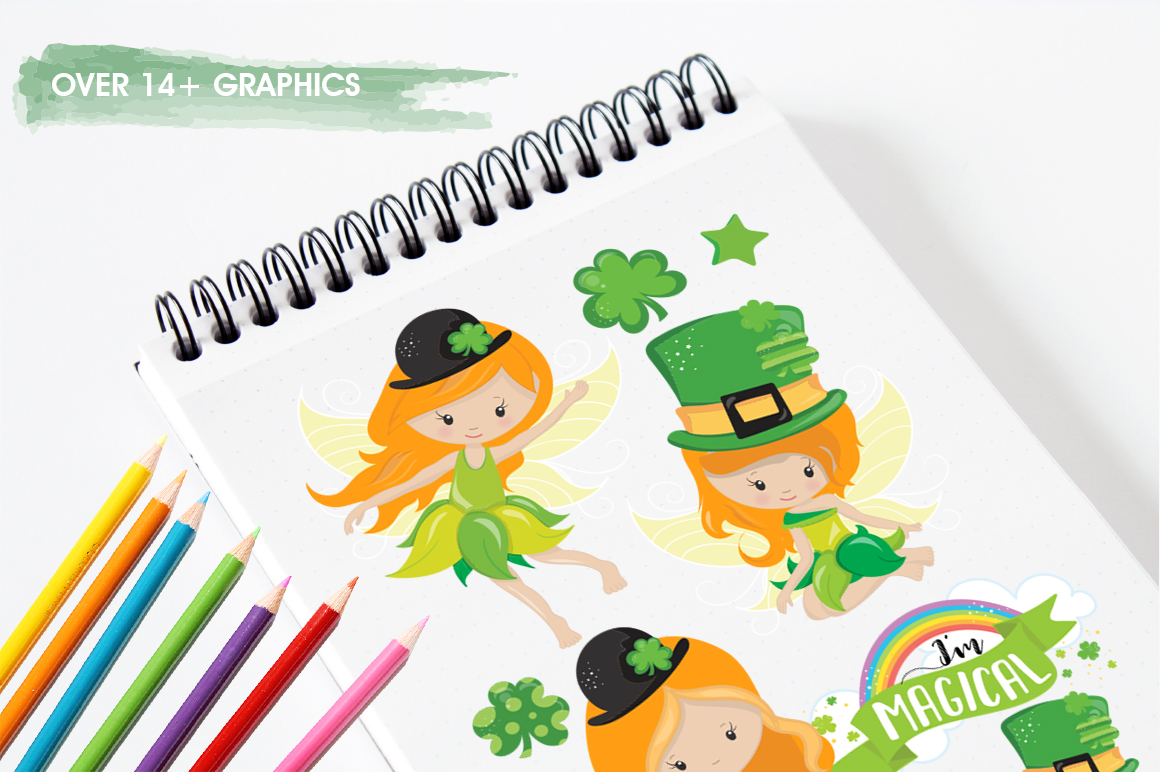 st-patrick fairies graphic and illustrations example image 3