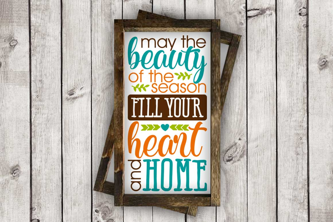 May the Beauty of the Season Fill Your Heart and Home cut File - SVG DXF EPS AI PNG example image 2