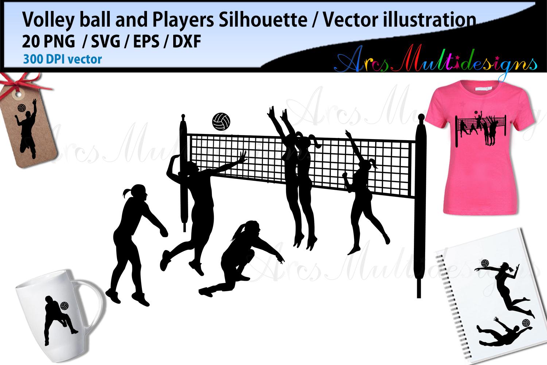 Volley ball , volley ball silhouette, volley ball svg example image 3