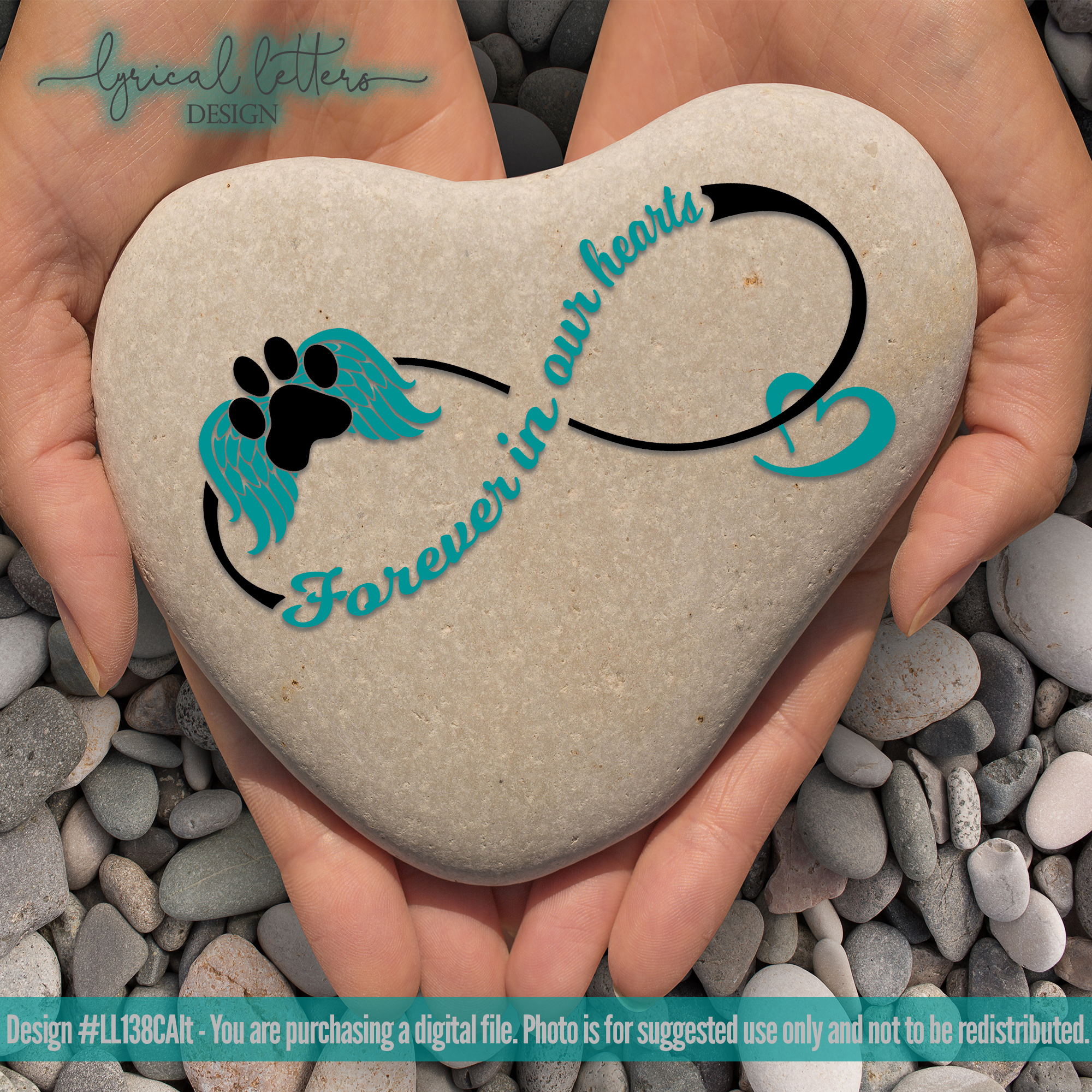 Forever In OUR Hearts Dog Memorial SVG Cut File LL138C Alt example image 2