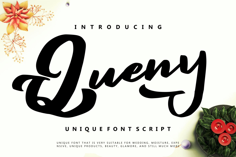 Queny | Unique Font Script example image 1