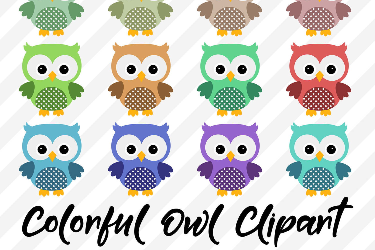 Owl Clipart, Cute Owls example image 1