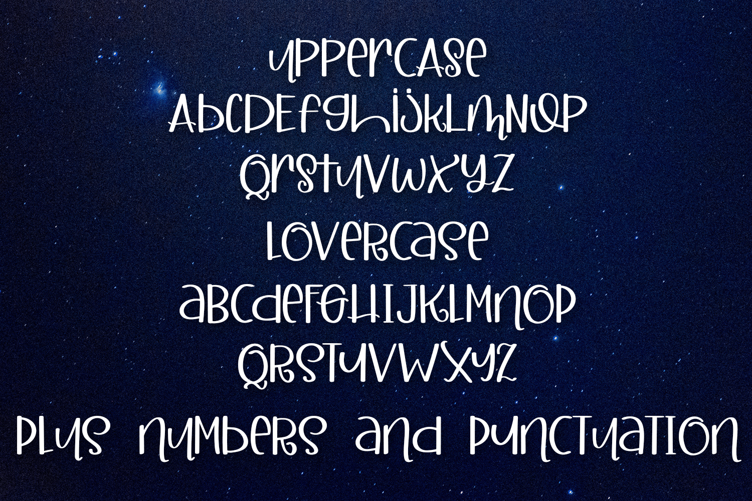 Midnight Party - A Mixed Case Hand-Written Font example image 2