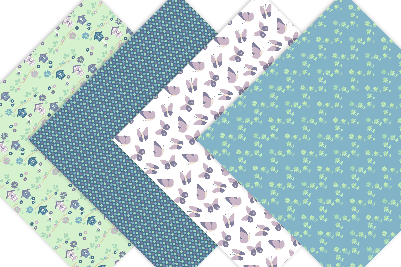 Spring Garden Digital Patterns - Digital Scrapbook Paper example image 3