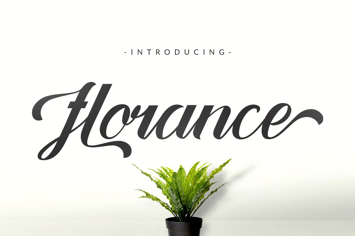 Florance Script example image 3