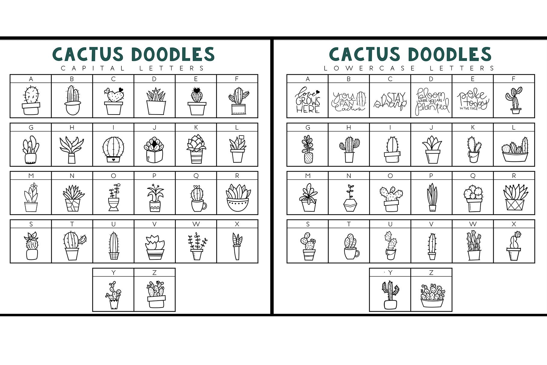 Fancactus - A Cactus & Succulent Doodle Font example image 7