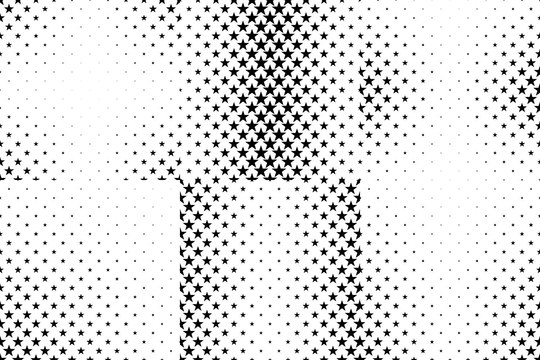 24 Star Patterns (AI, EPS, JPG 5000x5000) example image 4