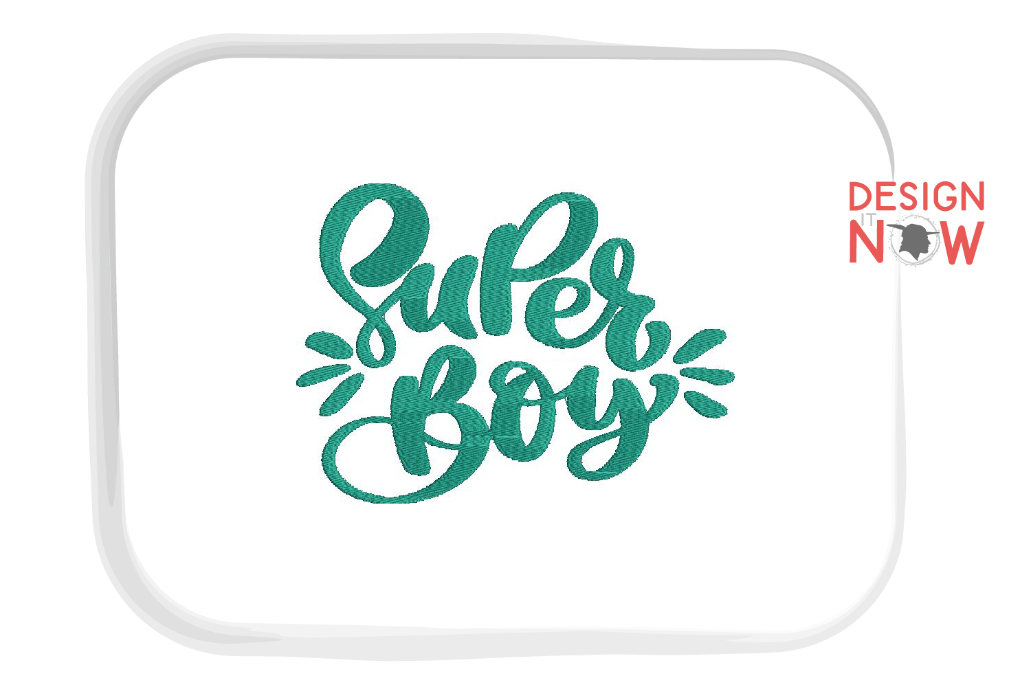 Super Boy Embroidery, Saying Embroidery Design, Baby example image 2