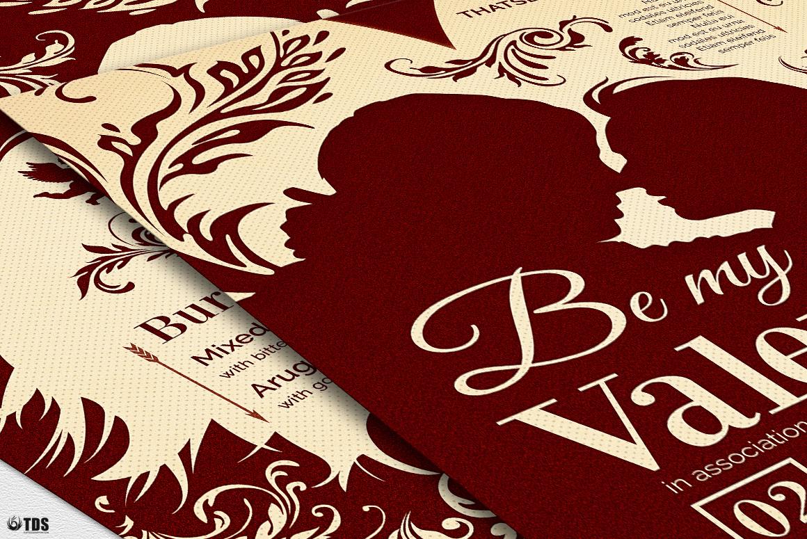 Valentines Day Flyer + Menu Bundle V6 example image 6
