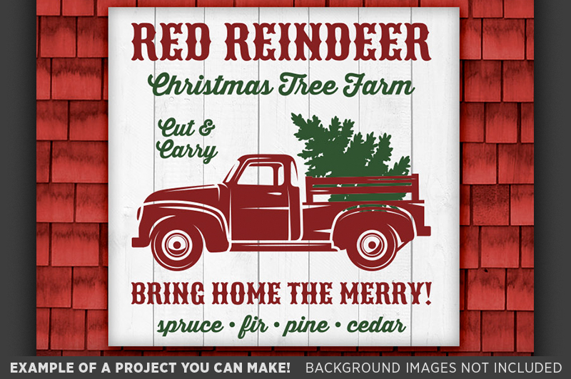Christmas Truck Svg Christmas Sign Svg Tree Truck Svg