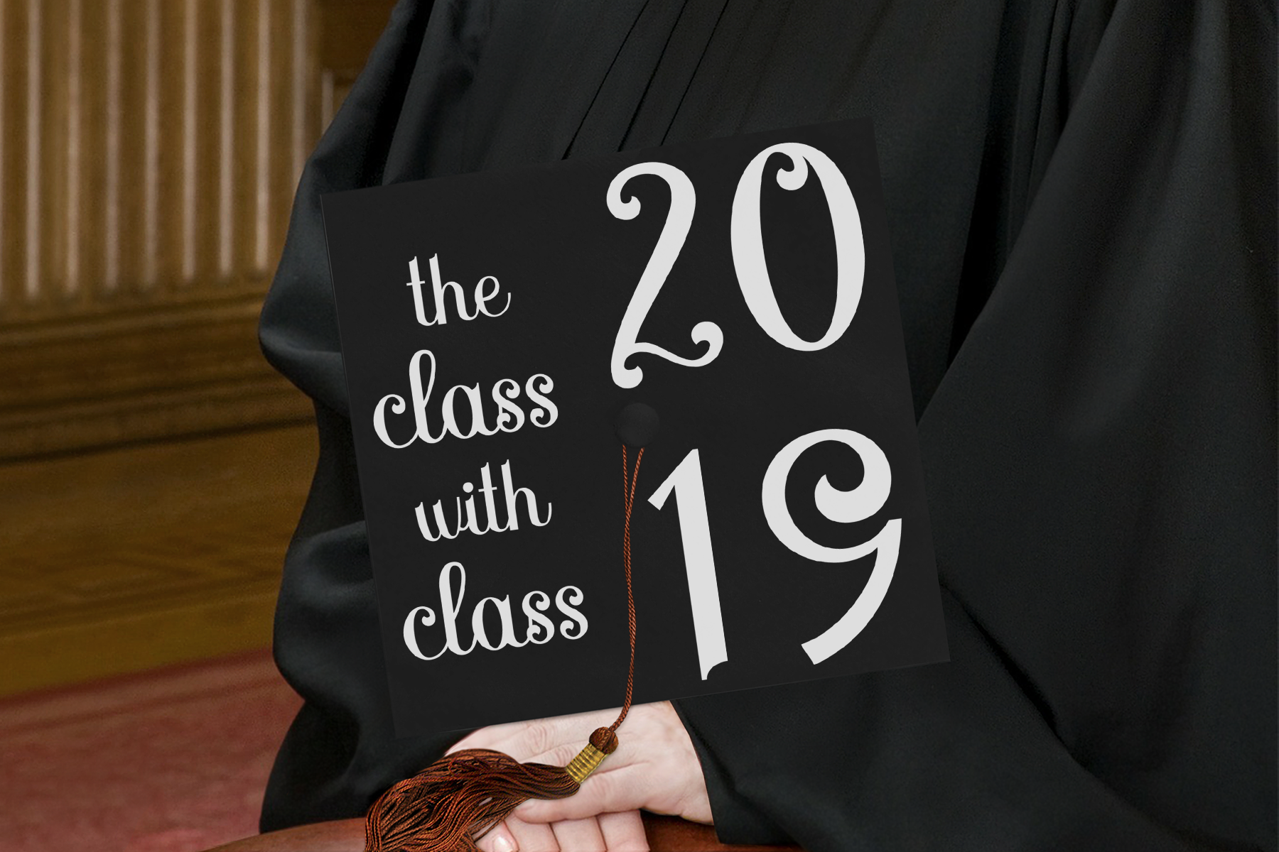 The Class with Class 2019 Grad Cap Design - A Graduation Hat example image 2