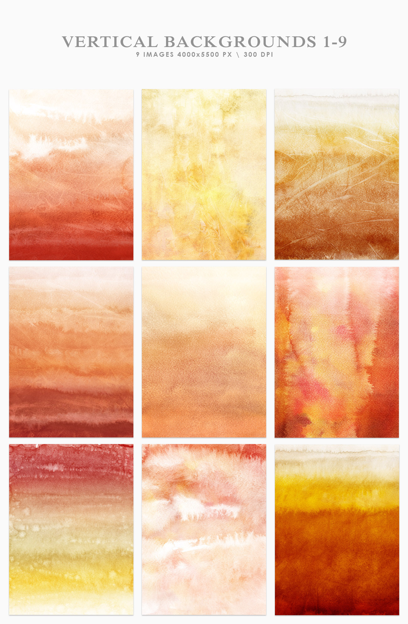 Autumn Watercolor Backgrounds example image 9