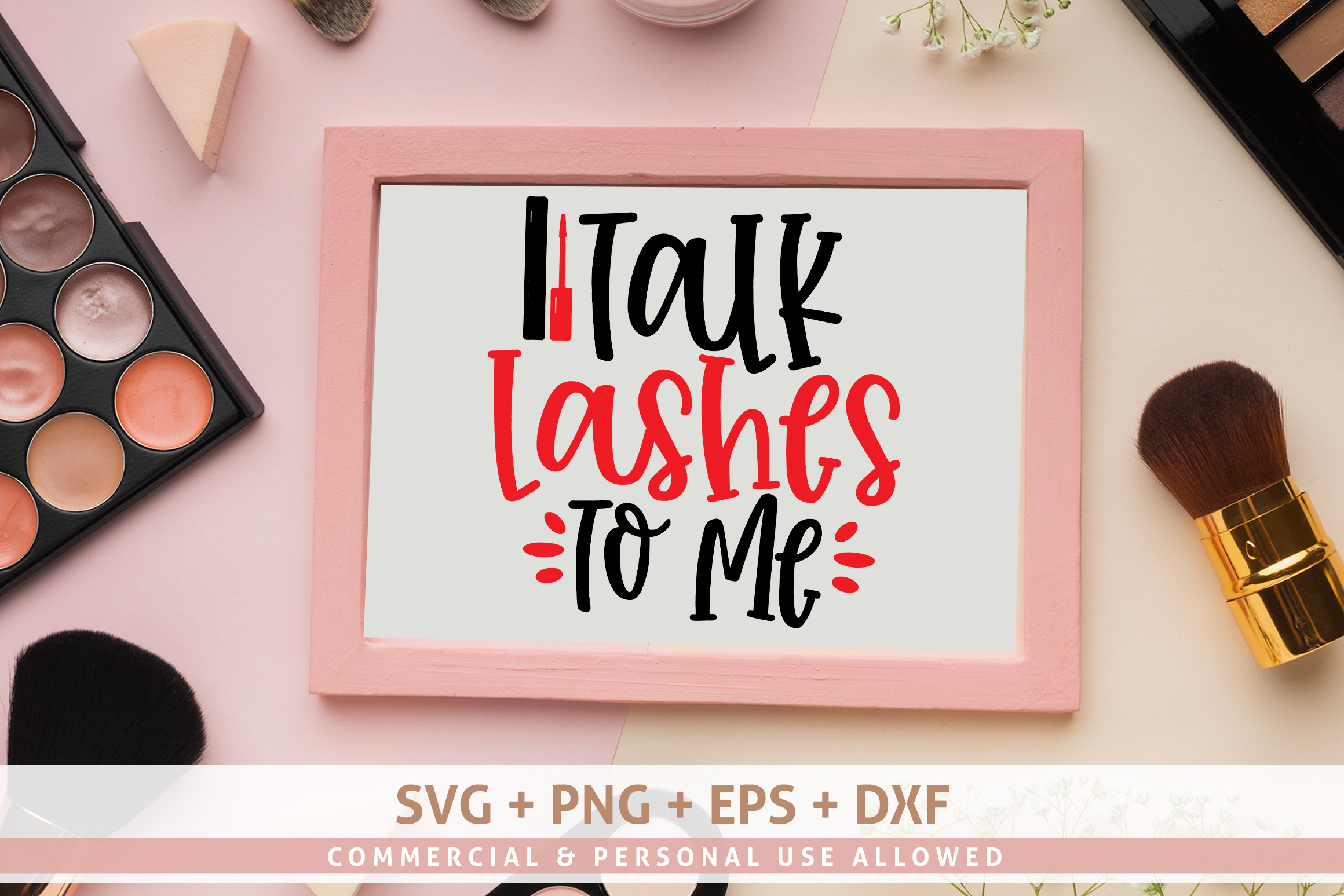 Talk Lashes To Me SVG example image 1