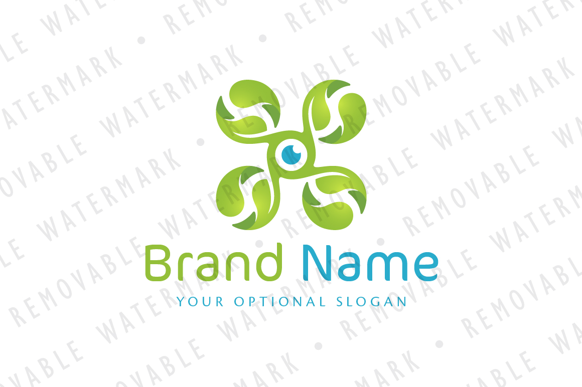 Green Drone Logo example image 1
