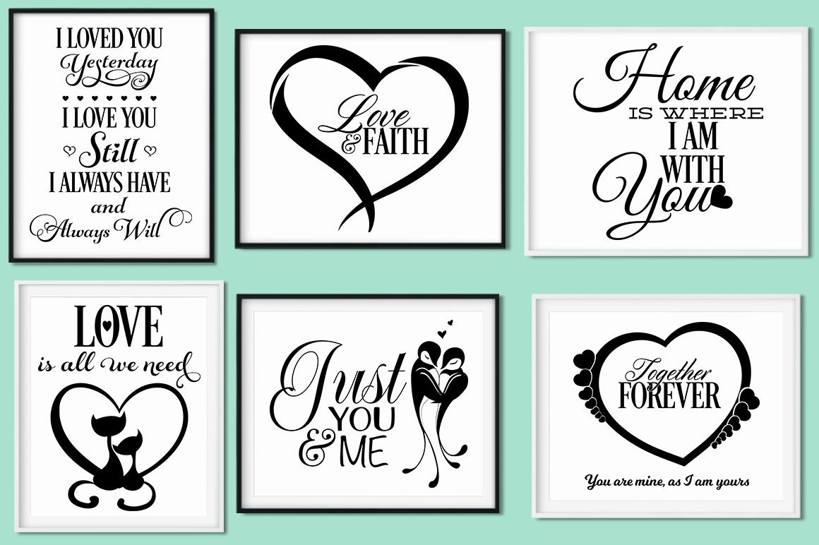 Love Quotes Bundle - Valentine SVG Cut Files example image 2